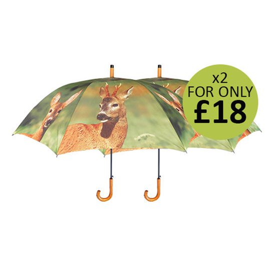 additional image for Large Deer Print Umbrella
