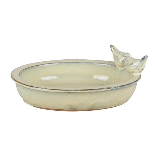 additional image for Ceramic Glazed Birdbath