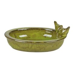 Ceramic Glazed Bird Bath