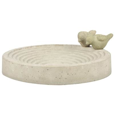 Fallen Fruits Concrete Bird Bath