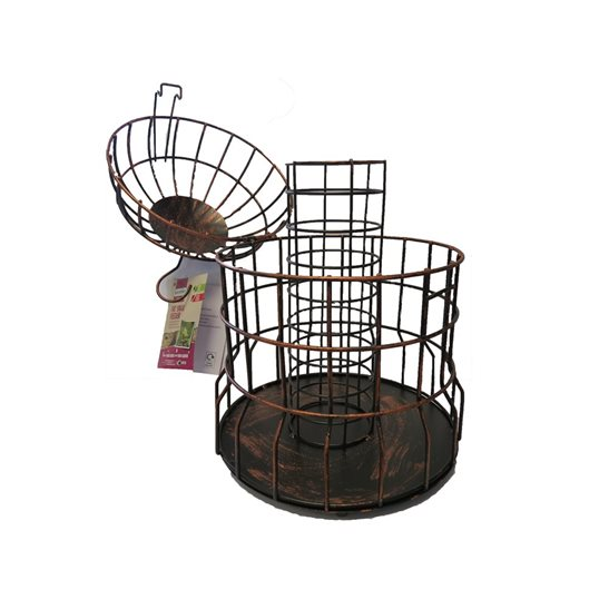 additional image for Gardman Caged Fat Ball Feeder