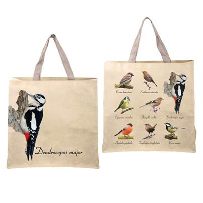 Fallen Fruits Bird Tote Bag