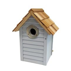 Beach Hut Nest Box Blue