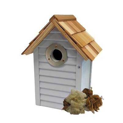 Gardman Beach Hut Nest Box Blue