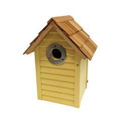 Beach Hut Nest Box Yellow