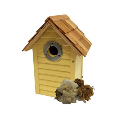 Brinvale Beach Hut Nest Box Yellow