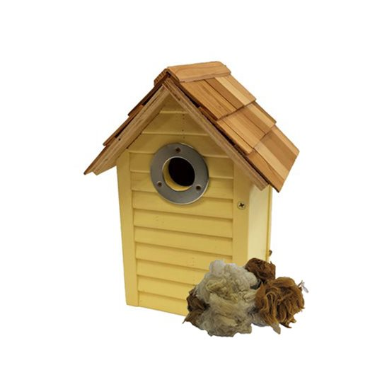 Image for Beach Hut Nest Box Yellow