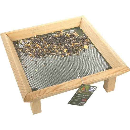 Image for Wooden Bird Feeder Table