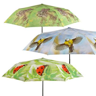 Fallen Fruits Wildlife Pattern Fold away Umbrellas