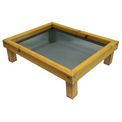 Wooden Ground Bird Feeder Tray